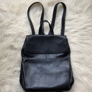 HOBO International small black leather backpack